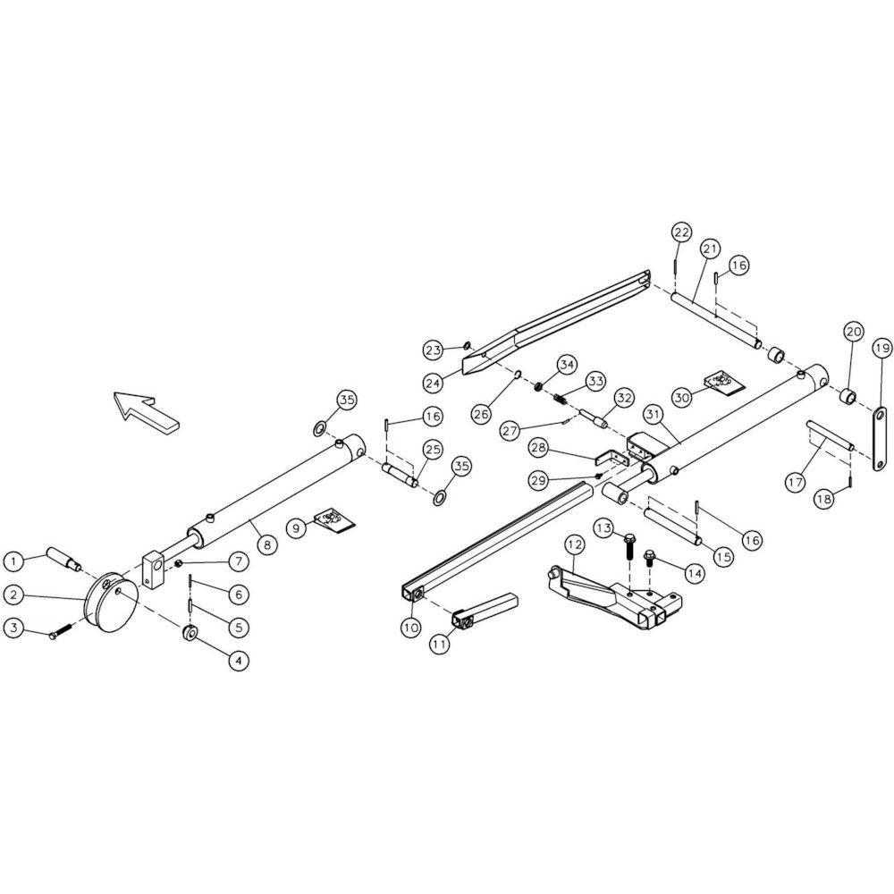 07 Hydraulische cilinder passend voor KUHN GF10601TO