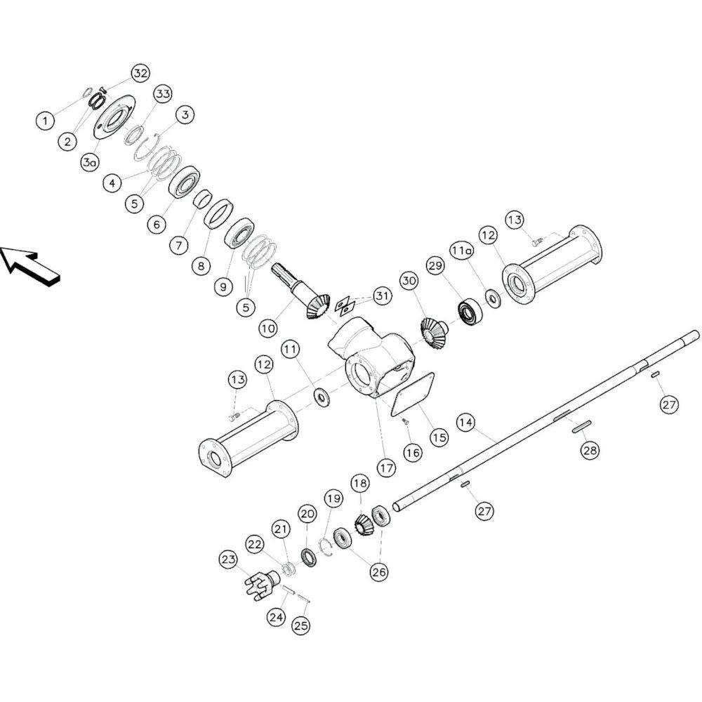 08 Hoofdframe 3 passend voor KUHN GF10601TO