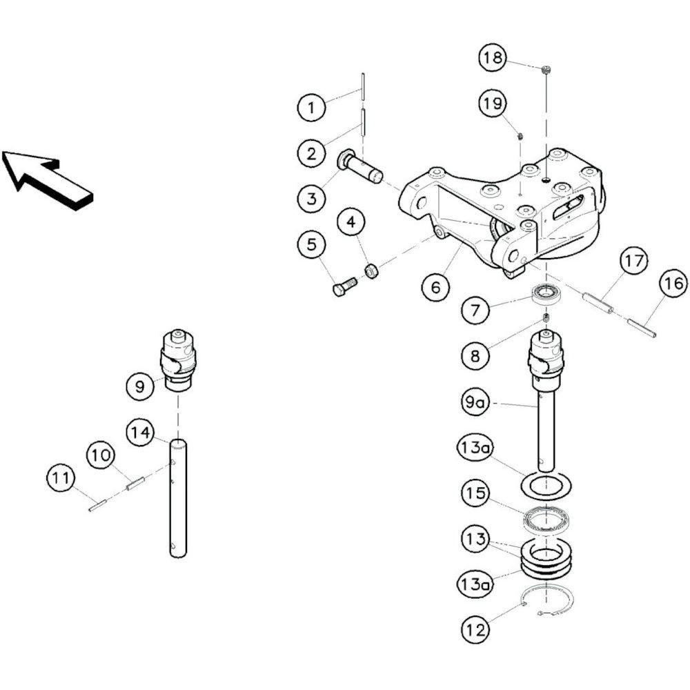09 Tandwielkastbehuizing passend voor KUHN GF10601TO