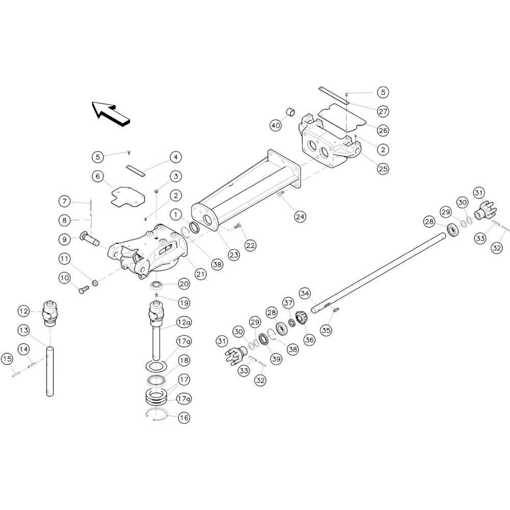 10 Tussenframe 1 passend voor KUHN GF10601TO