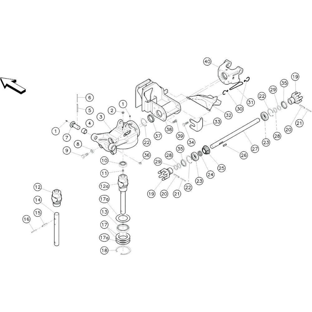12 Tussenframe 3 passend voor KUHN GF10601TO