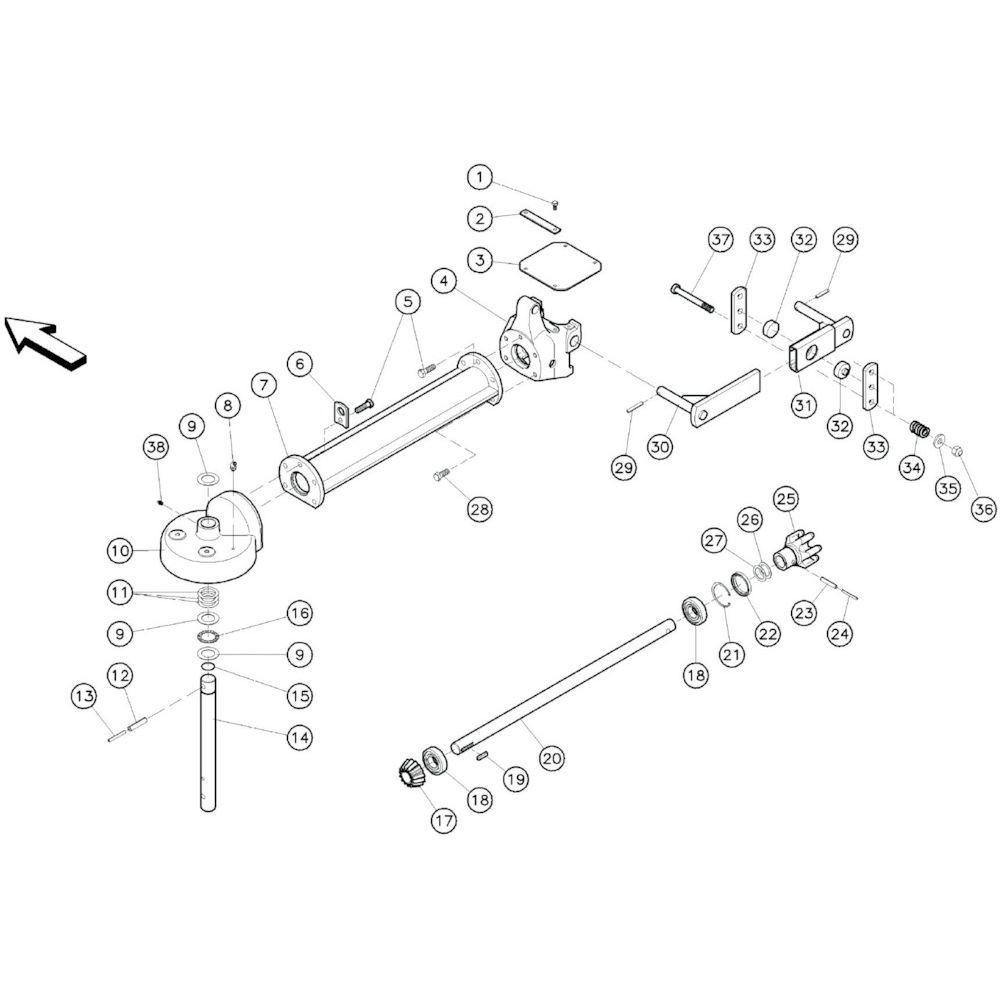 13 Buitenframe passend voor KUHN GF10601TO