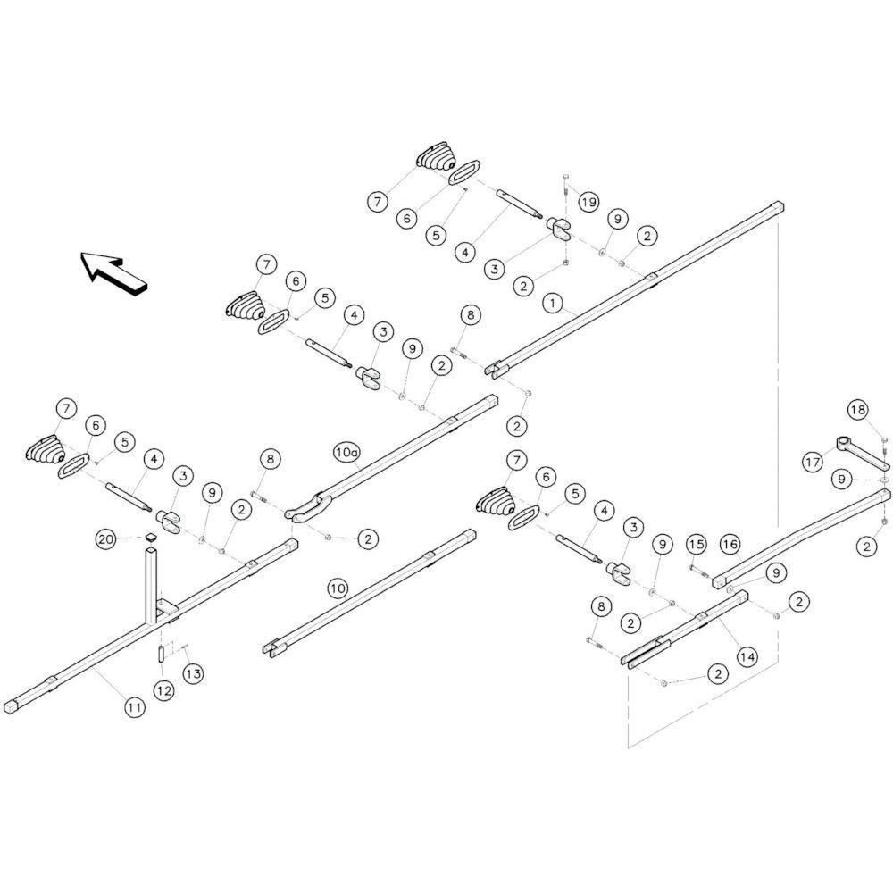 14 Stangenstelsel passend voor KUHN GF10601TO