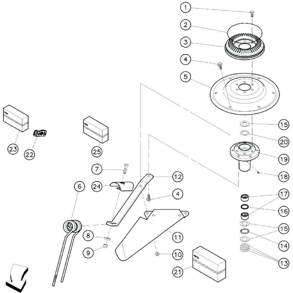 15 Rotor passend voor KUHN GF10601TO