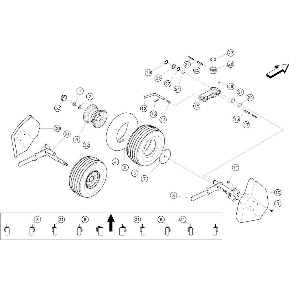19 Tussenwielen passend voor KUHN GF10601TO