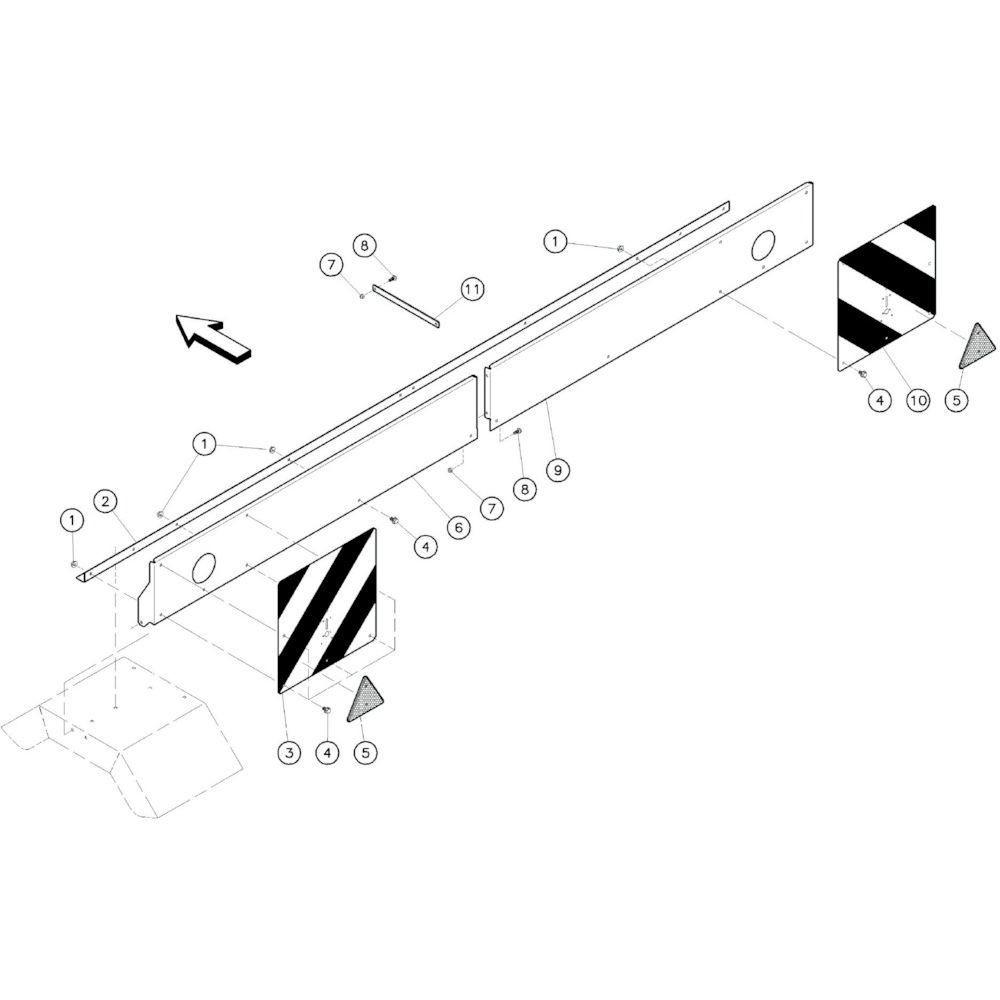 24 Beschermingen, achterzijde passend voor KUHN GF10601TO