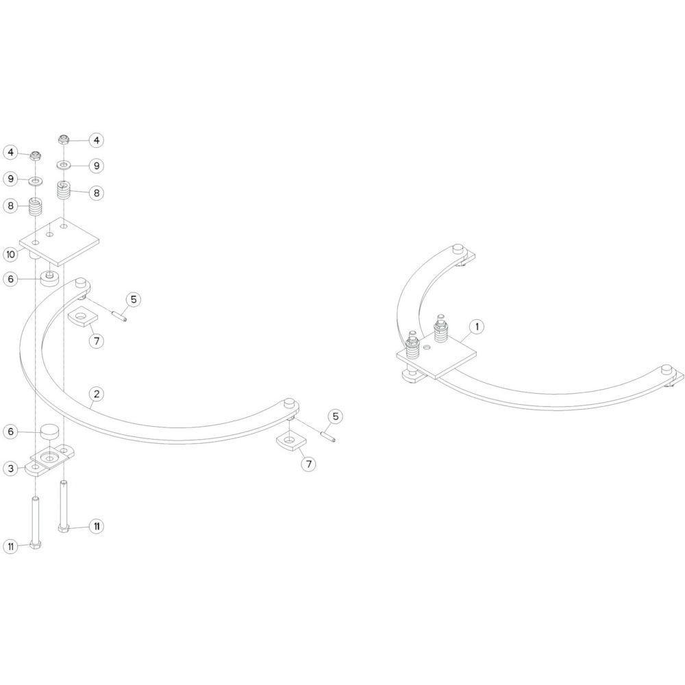 28 Stabilisatorset passend voor KUHN GF10601TO