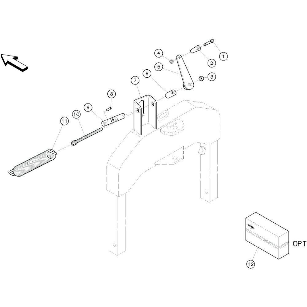 29 Lastverdelingsset passend voor KUHN GF10601TO