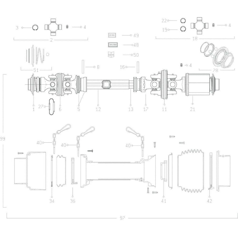 33 Transmissie 2 passend voor KUHN GF10601TO