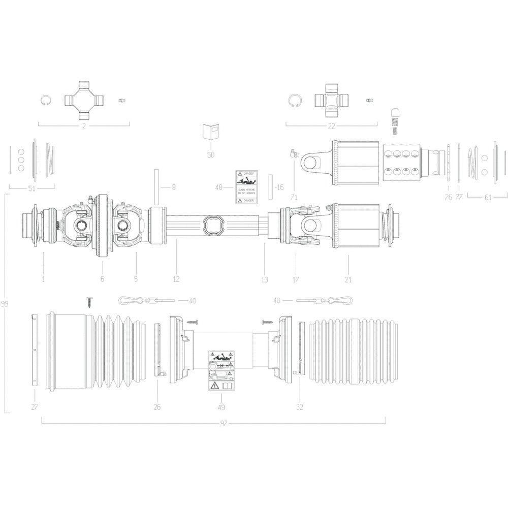 106 Transmissie 1 passend voor KUHN GF10802T
