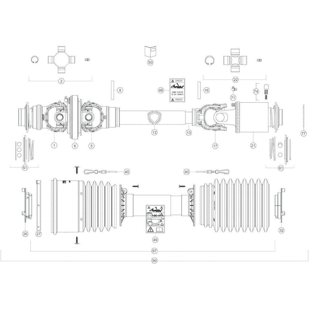 107 Transmissie 2 passend voor KUHN GF10802T