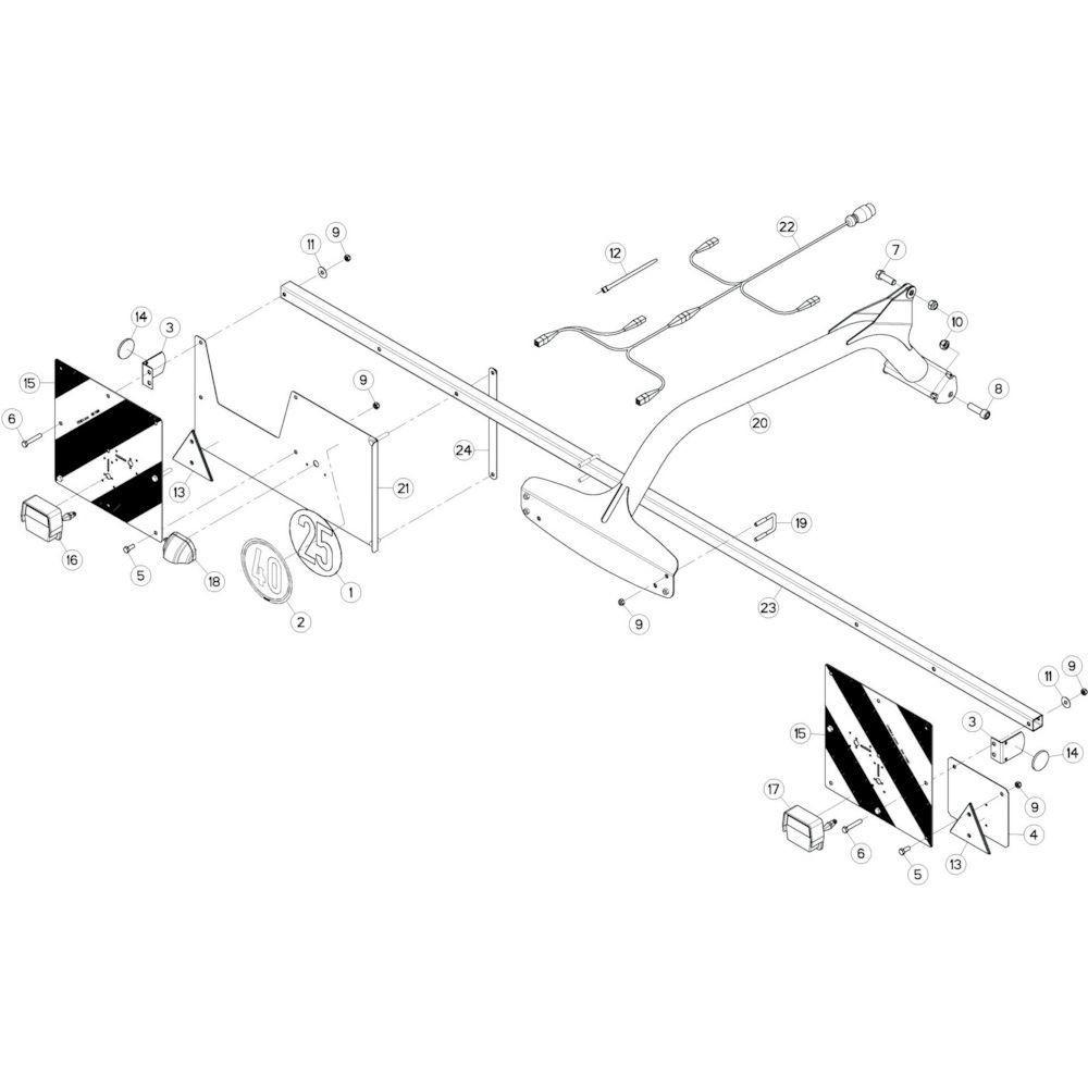 15 Verlichting, achter 2 passend voor KUHN GF10802T