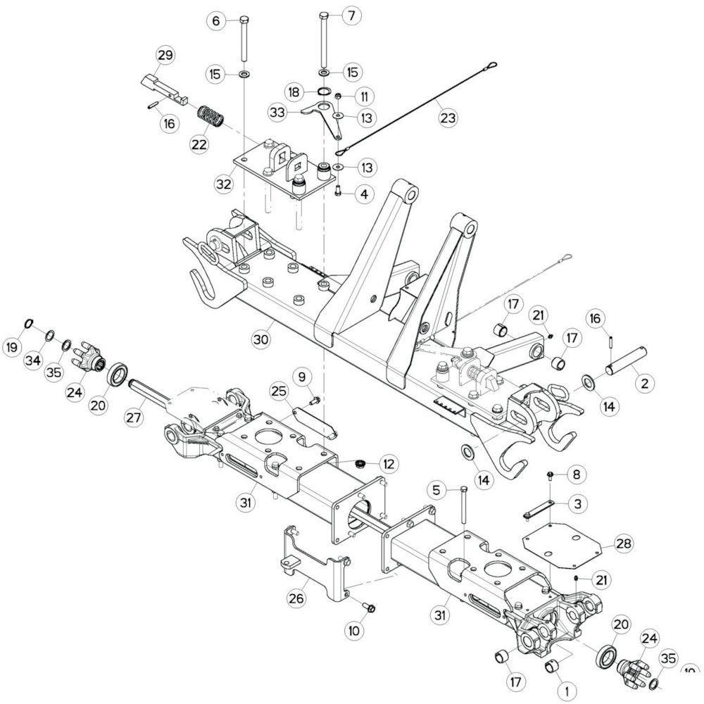 26 Centrale wing 1 passend voor KUHN GF10802T