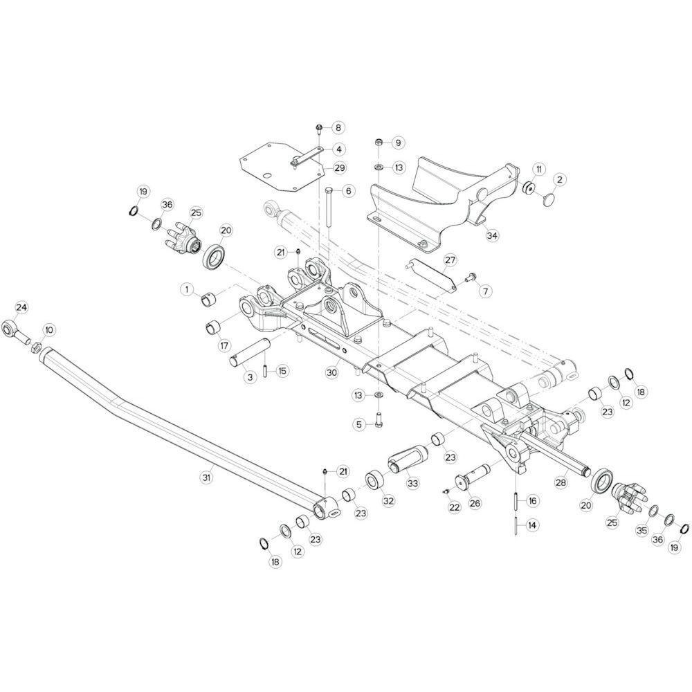 33 Tussenwing 1, links 1 passend voor KUHN GF10802T