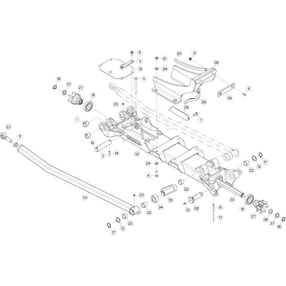 36 Tussenwing 1, links 4 passend voor KUHN GF10802T