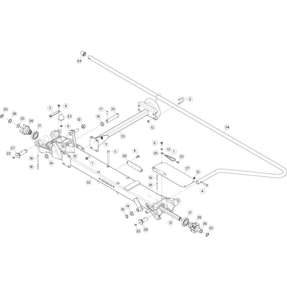 38 Tussenwing 2, rechts 2 passend voor KUHN GF10802T
