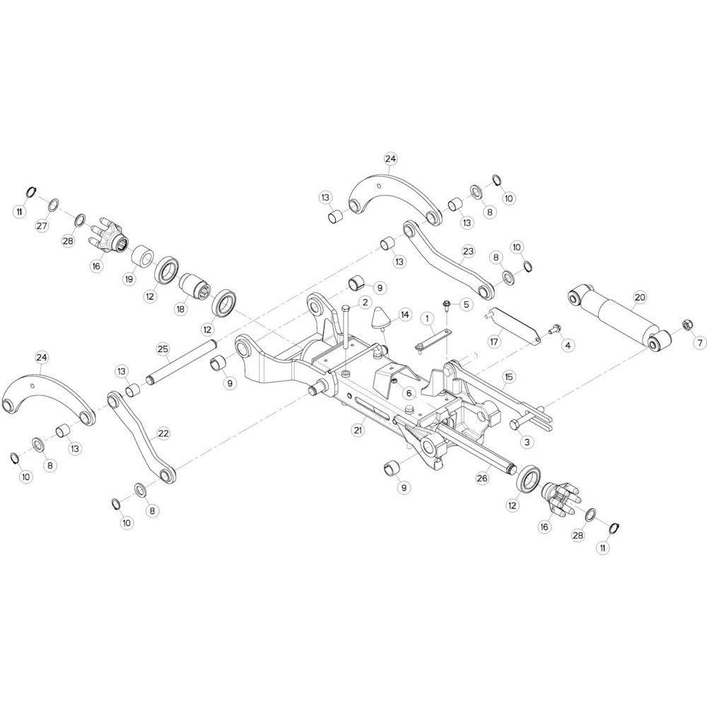 42 Tussenwing 3, rechts 1 passend voor KUHN GF10802T