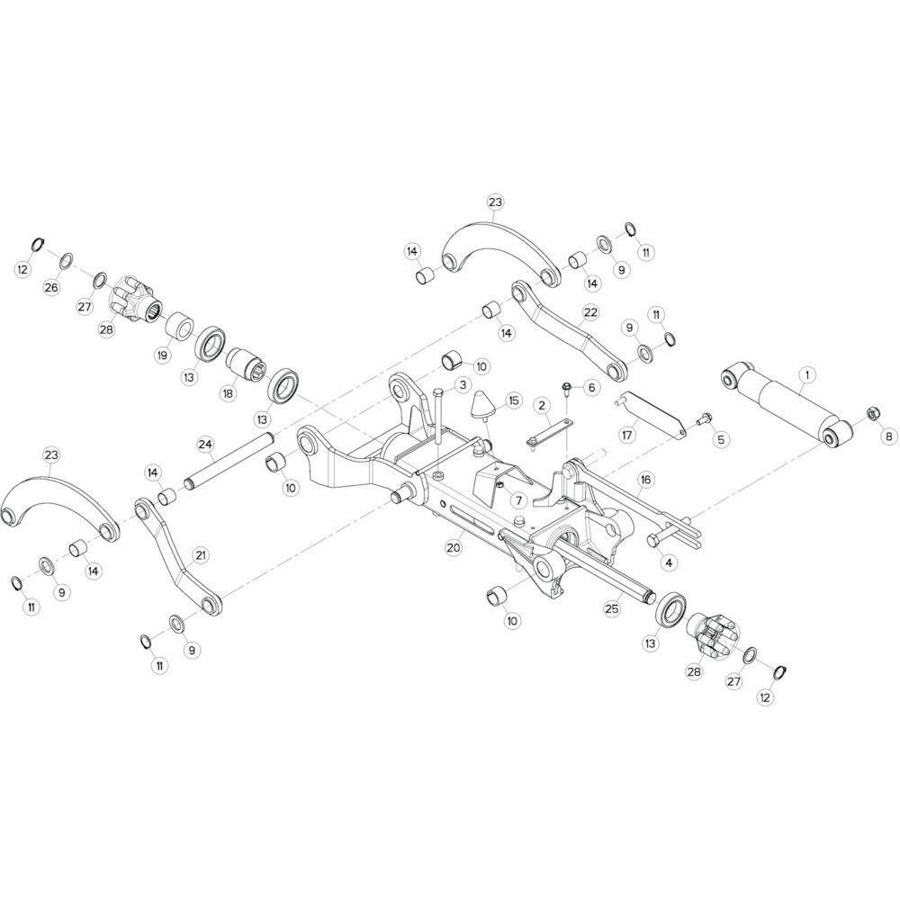 43 Tussenwing 3, rechts 2 passend voor KUHN GF10802T