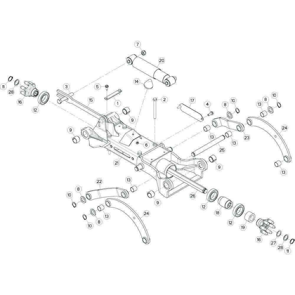 44 Tussenwing 3, links 1 passend voor KUHN GF10802T