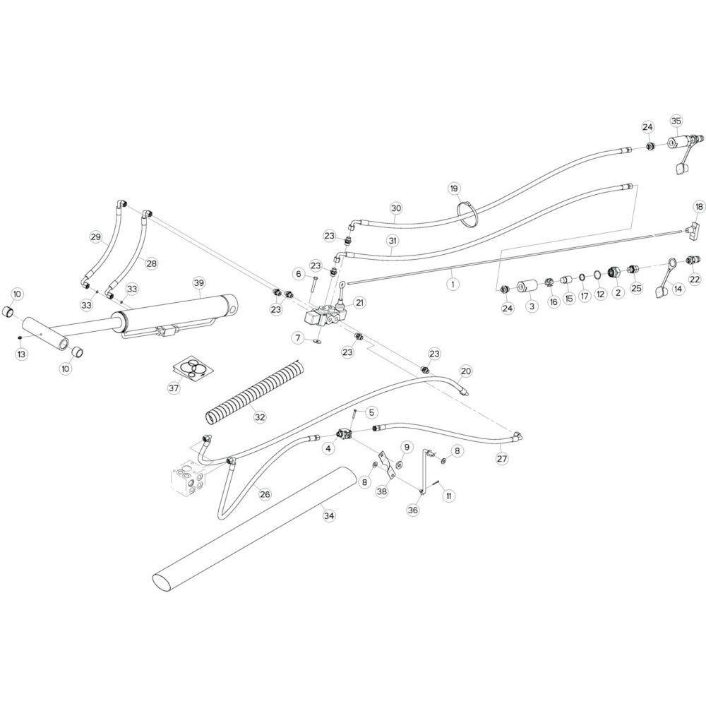 53 Hydrauliek, voorzijde 2 passend voor KUHN GF10802T