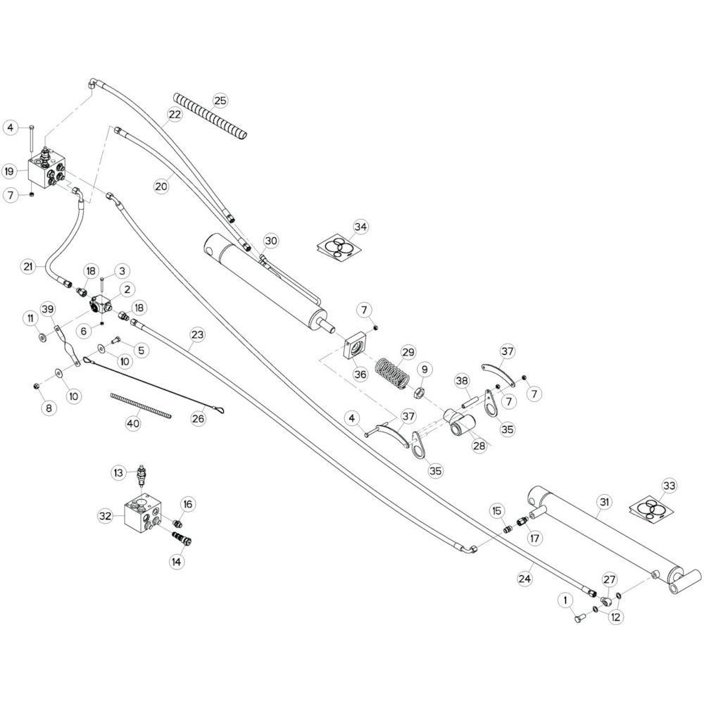 57 Hydrauliek, rechts 3 passend voor KUHN GF10802T