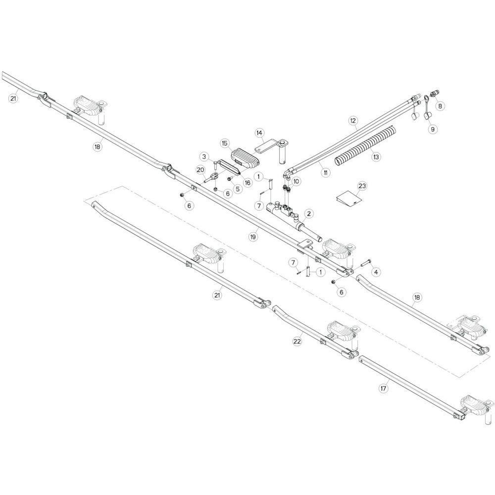 63 Stangenstelsel 3 passend voor KUHN GF10802T