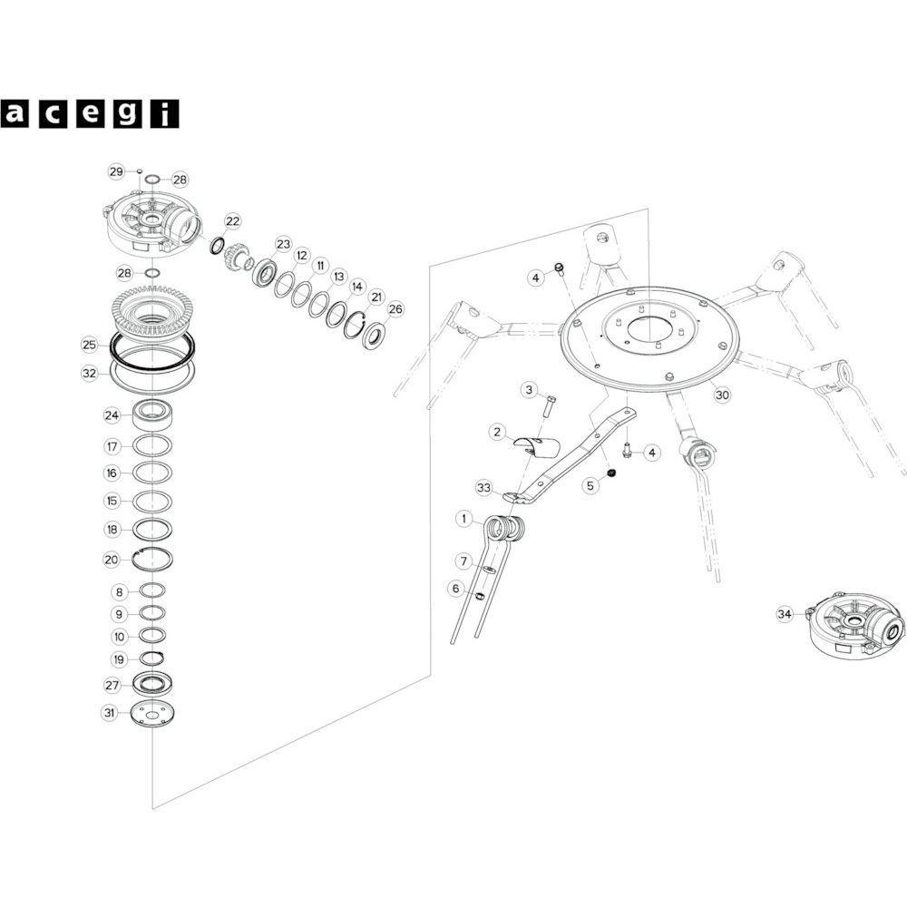 66 Rotor, rechts 2 passend voor KUHN GF10802T
