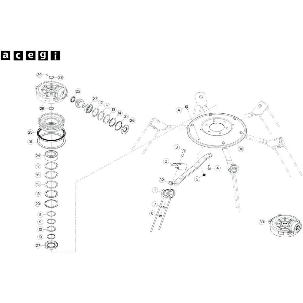 67 Rotor, rechts 3 passend voor KUHN GF10802T