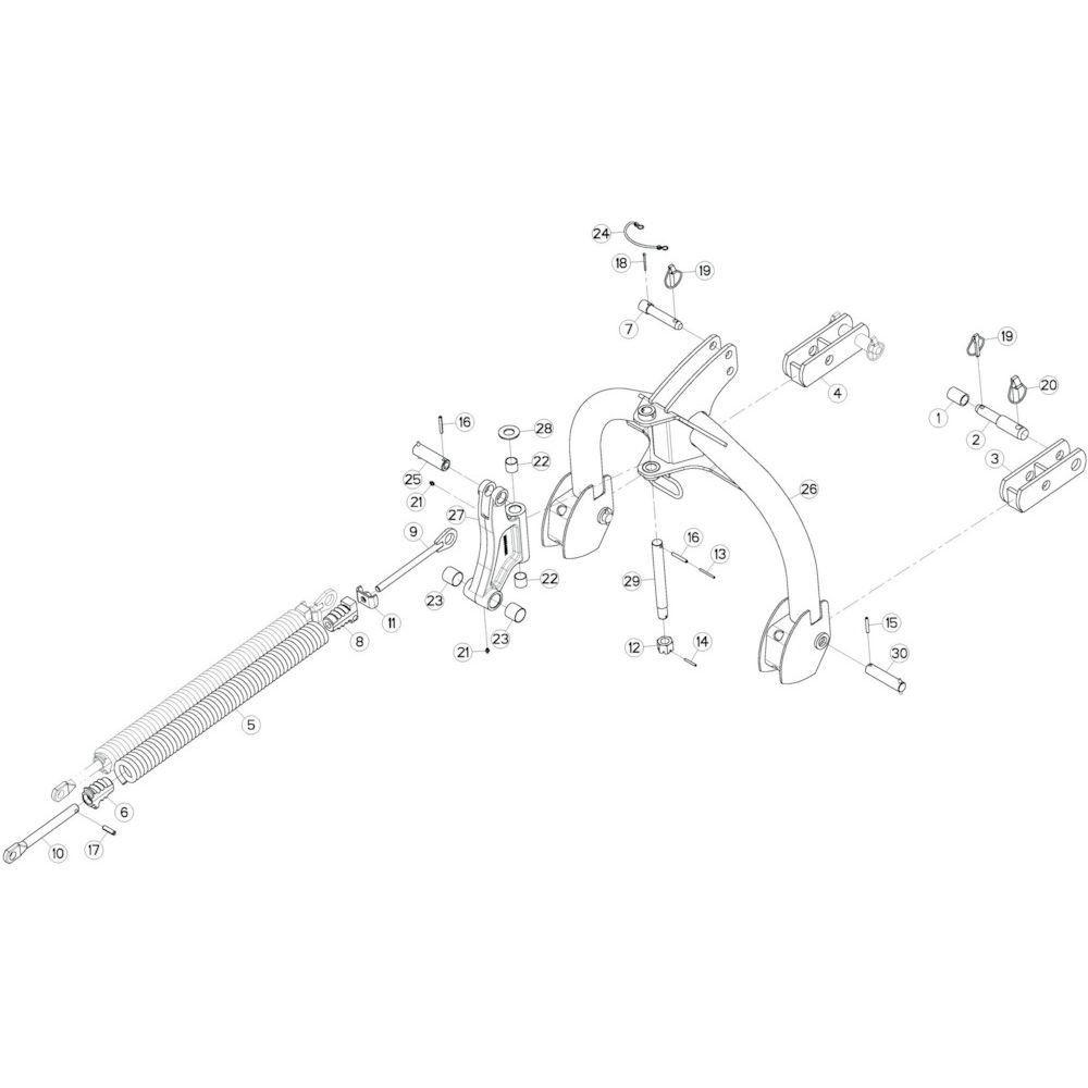 01 Verbindingsframe passend voor KUHN GF10802TGII