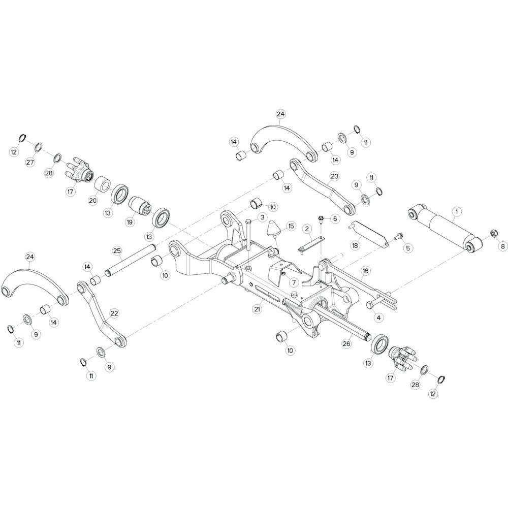 13 Tussenwing 3, rechts passend voor KUHN GF10802TGII