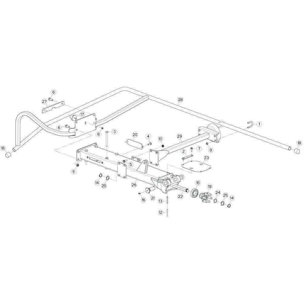 16 Buitenwing, links passend voor KUHN GF10802TGII
