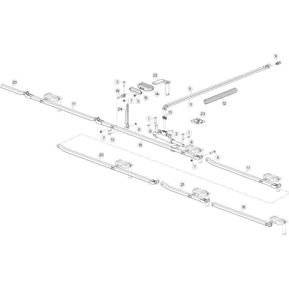 20 Stangenstelsel passend voor KUHN GF10802TGII