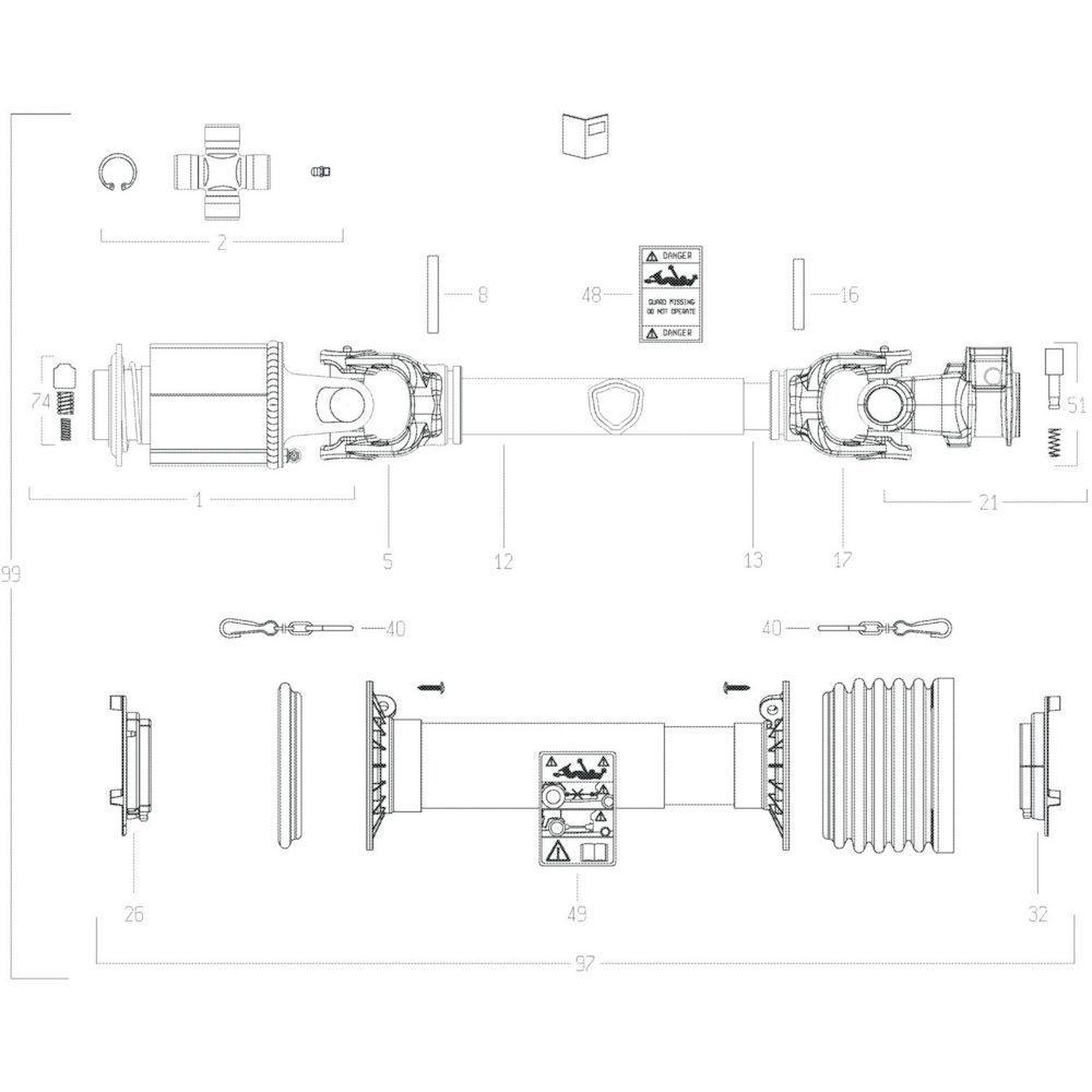 37 Transmissie 1 passend voor KUHN GF10802TGII