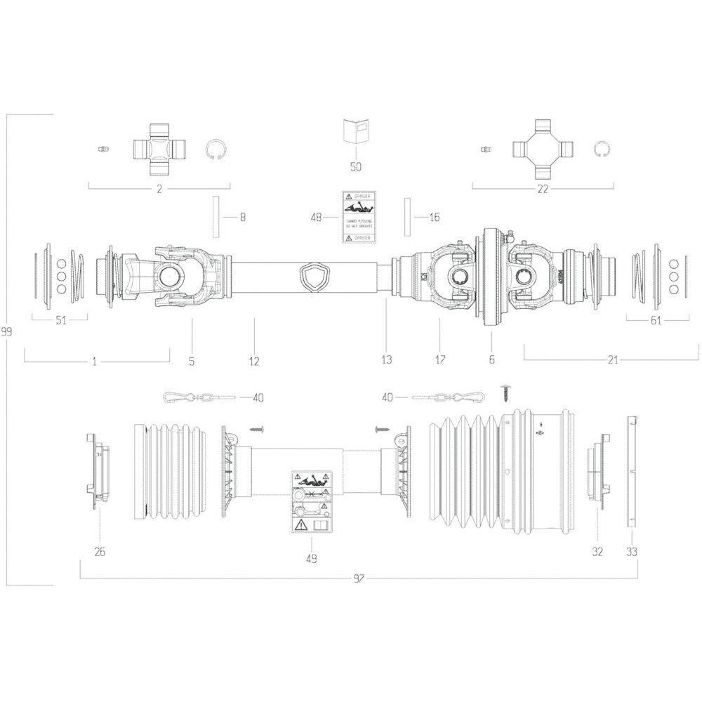 38 Transmissie 2 passend voor KUHN GF10802TGII