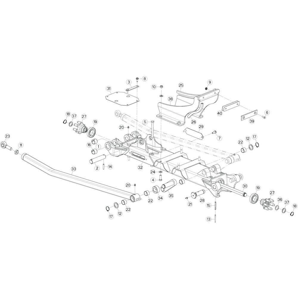 16 Tussenwing 1, links 1 passend voor KUHN GF10802TGII