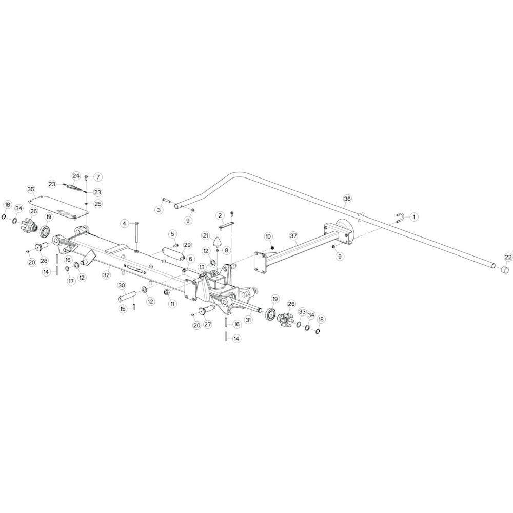20 Tussenwing 2, links 1 passend voor KUHN GF10802TGII