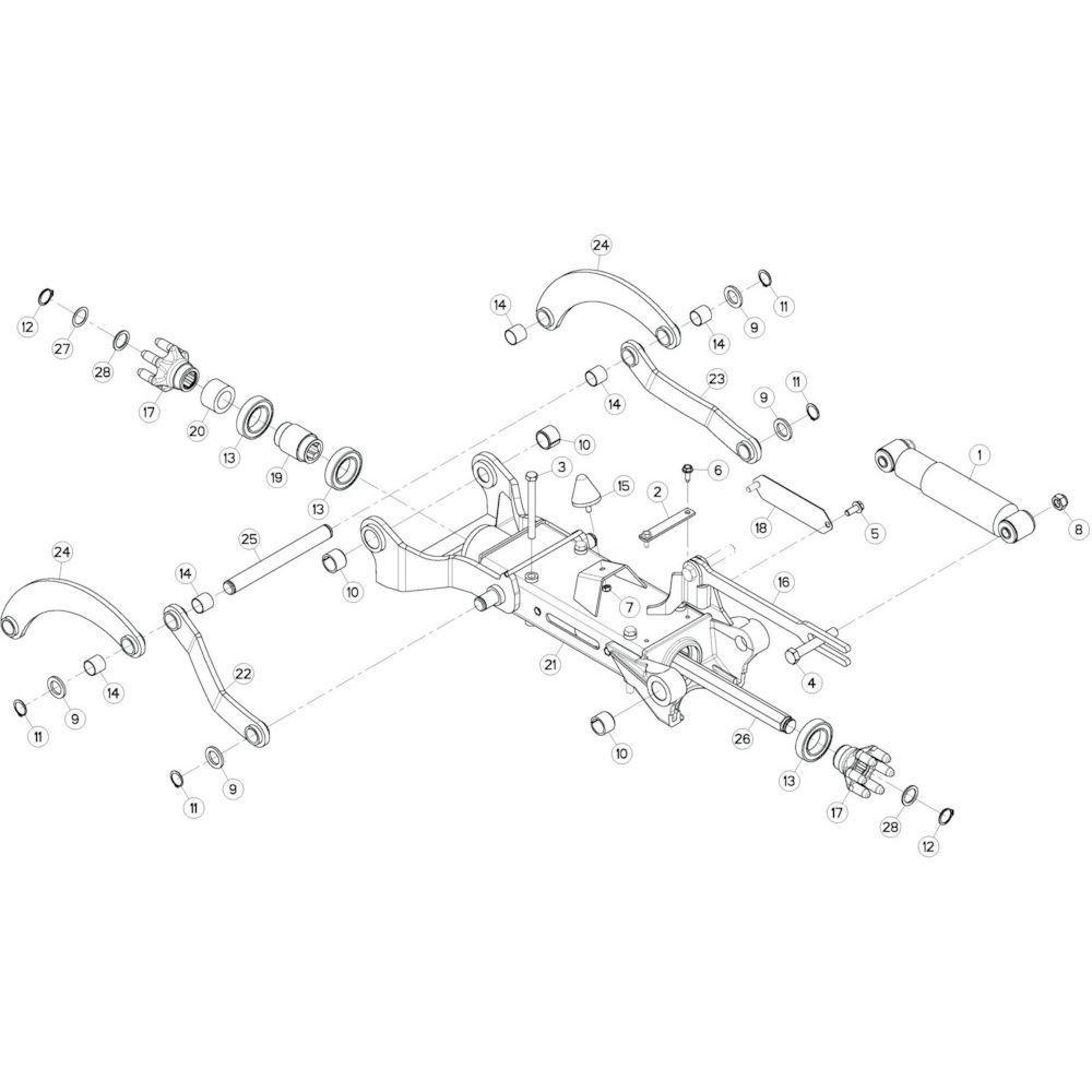 22 Tussenwing 3, rechts 1 passend voor KUHN GF10802TGII