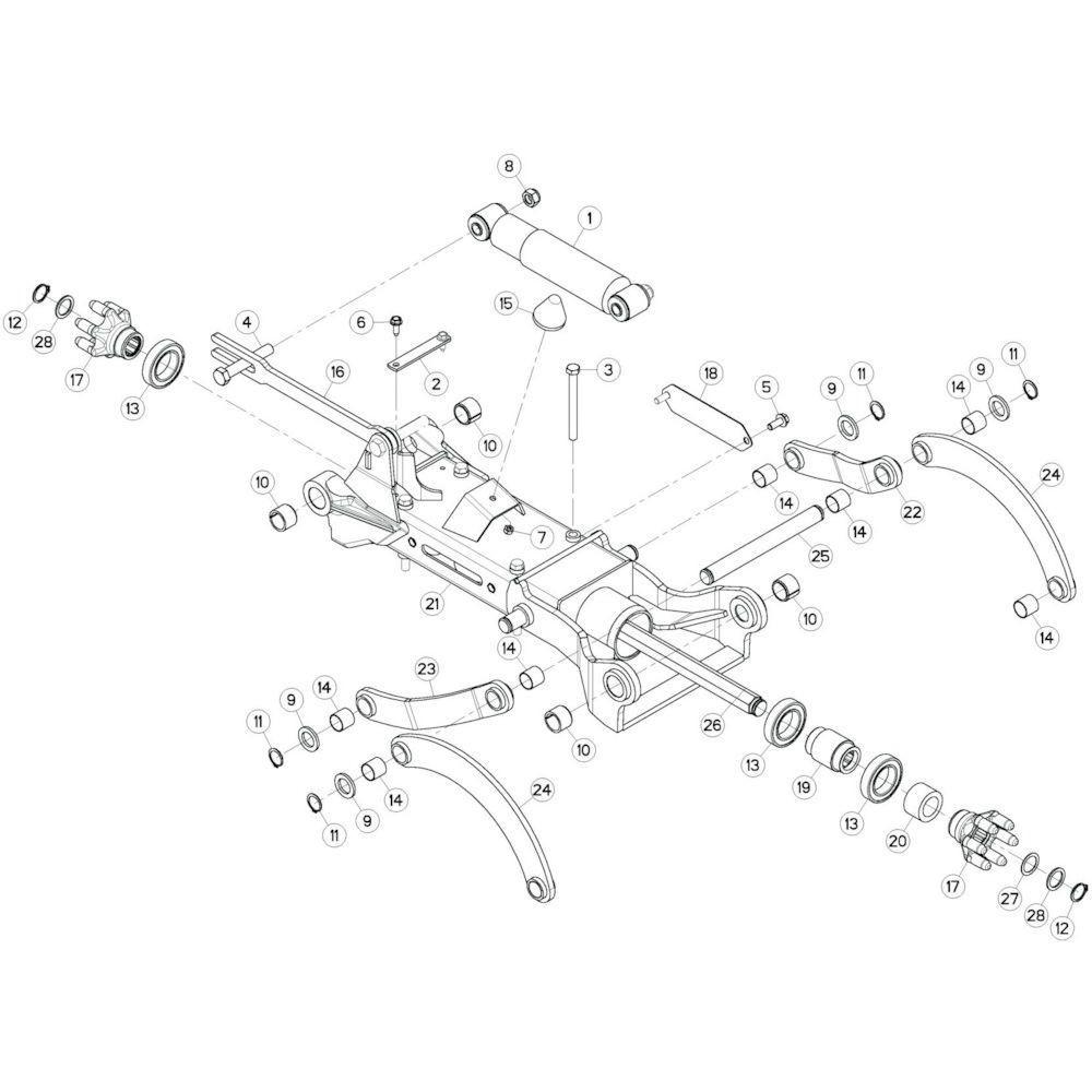 24 Tussenwing 3, links 1 passend voor KUHN GF10802TGII