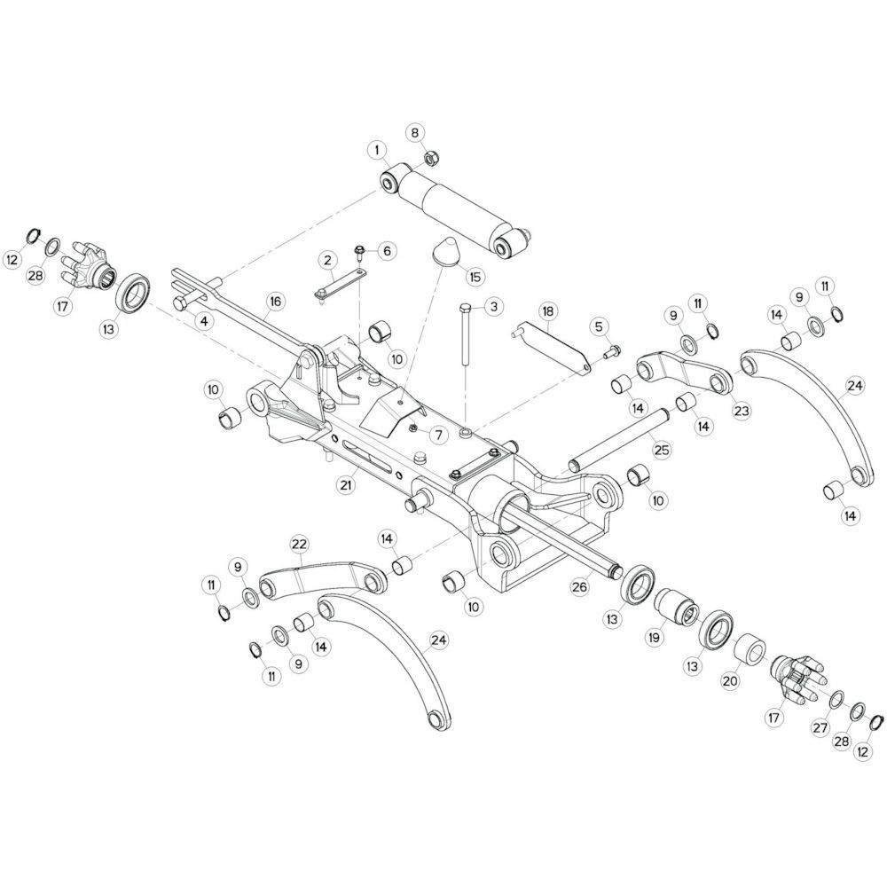 25 Tussenwing 3, links 2 passend voor KUHN GF10802TGII