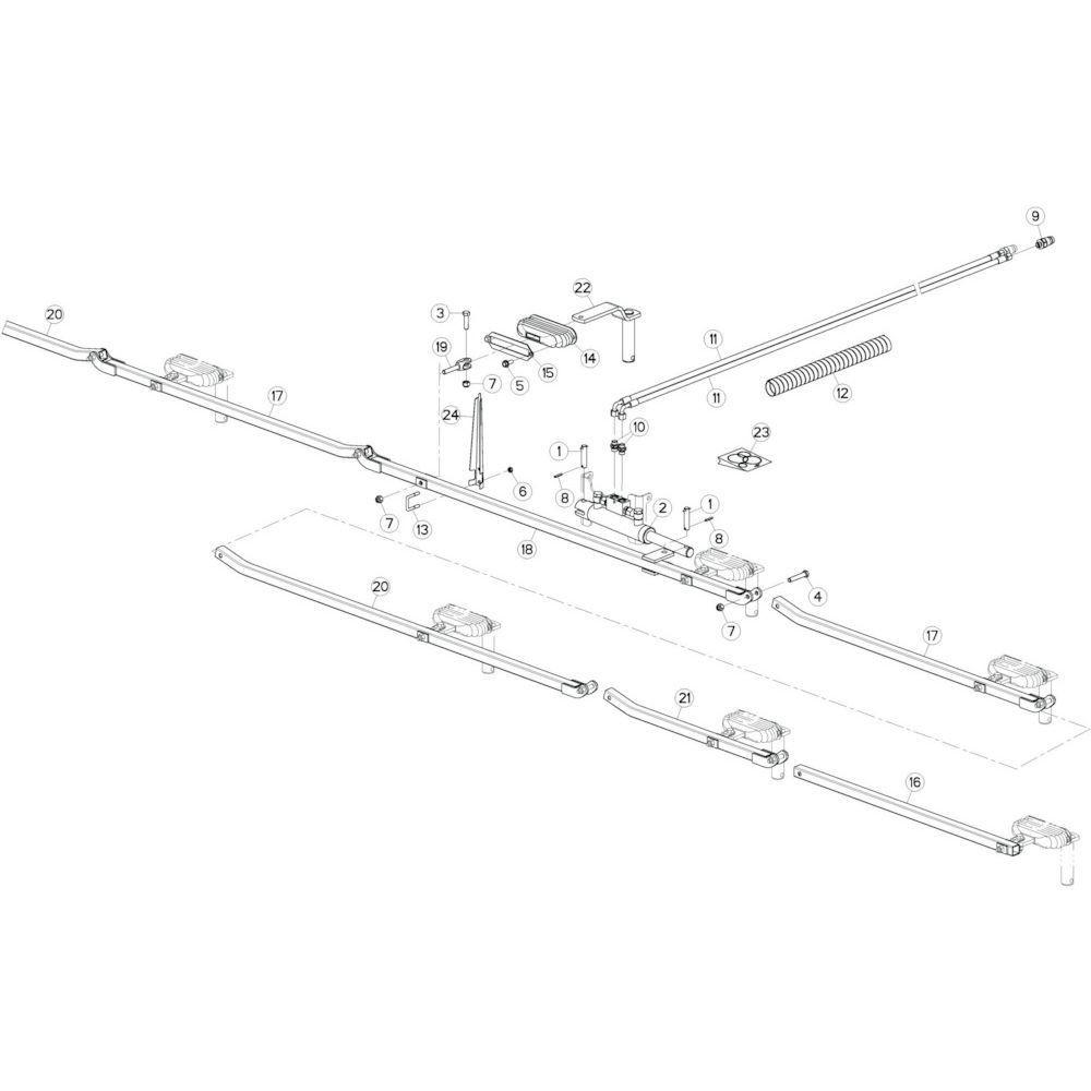 34 Stangenstelsel passend voor KUHN GF10802TGII