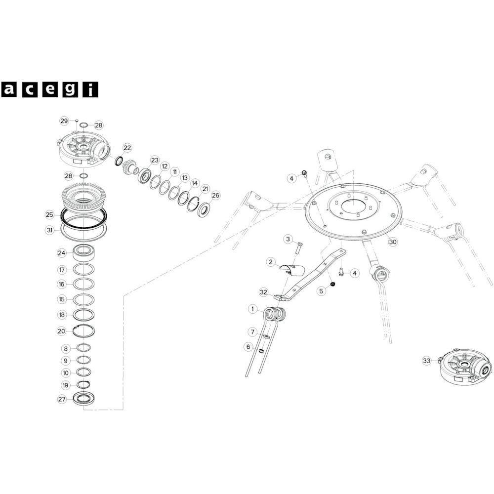35 Rotor, rechts 1 passend voor KUHN GF10802TGII
