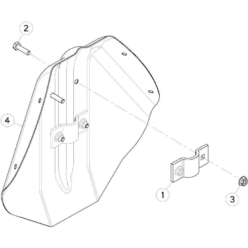 57 Deflector 2 passend voor KUHN GF10802TGII