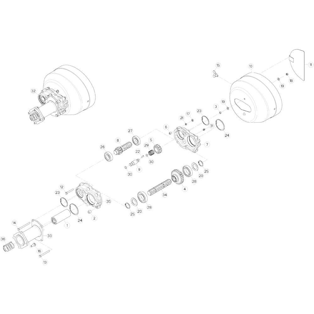 66 Dubbele tandwielkast passend voor KUHN GF10802TGII