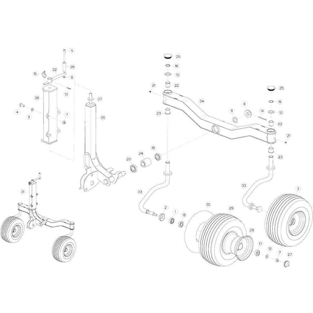 67 Cardanwiel, zwaaiarm 1 passend voor KUHN GF10802TGII