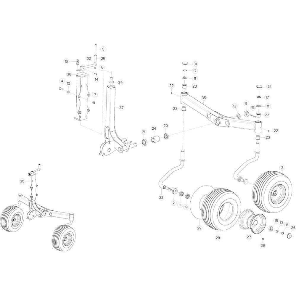 69 Cardanwiel, zwaaiarm 3 passend voor KUHN GF10802TGII
