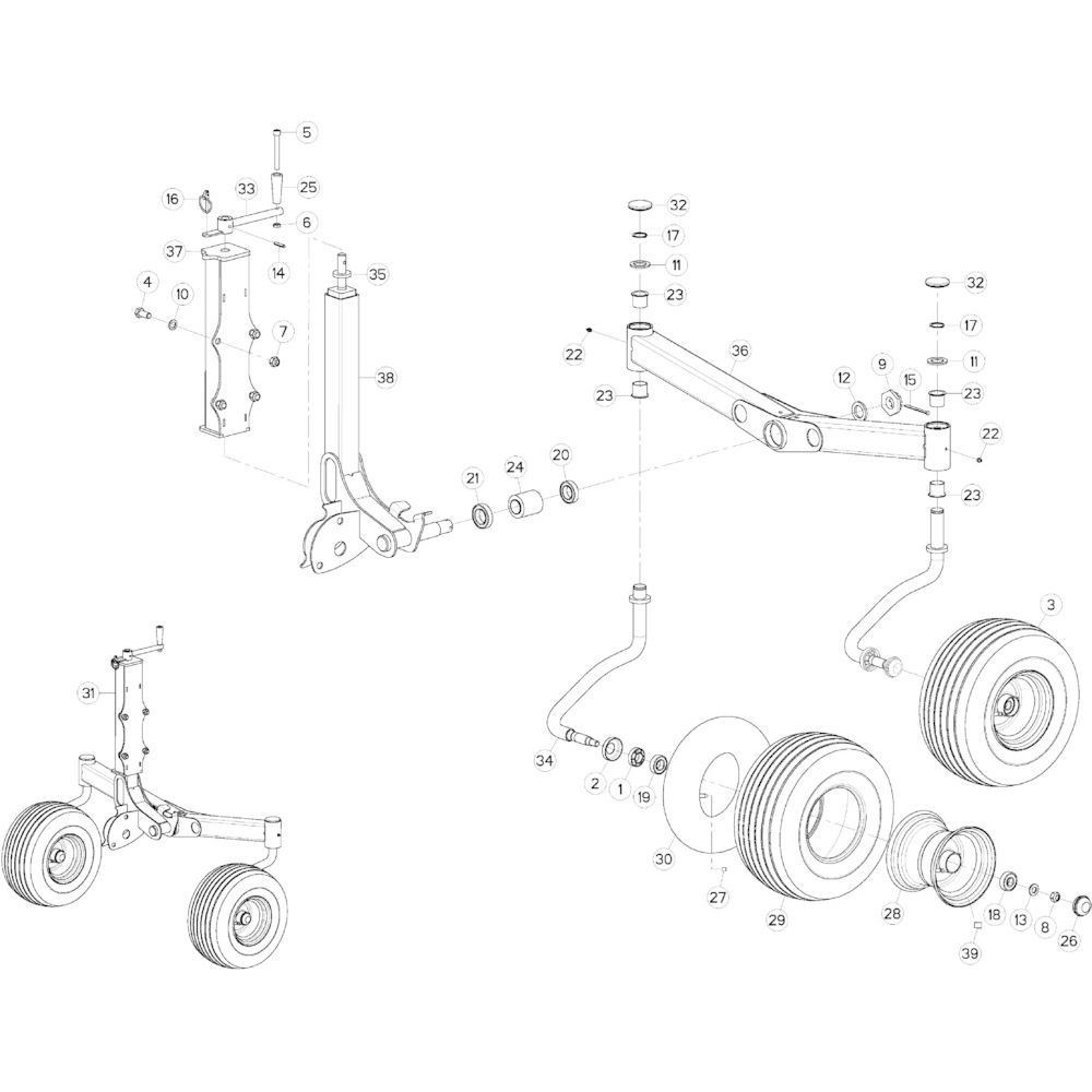 70 Cardanwiel, zwaaiarm 4 passend voor KUHN GF10802TGII