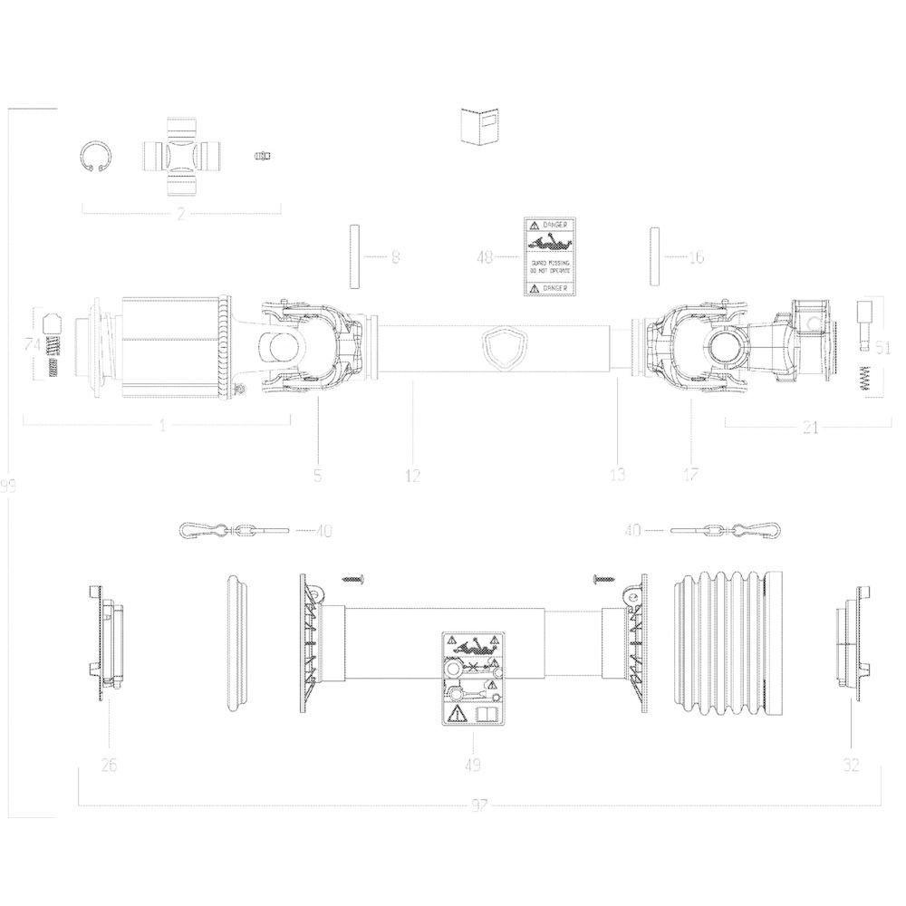 73 Transmissie 1 passend voor KUHN GF10802TGII