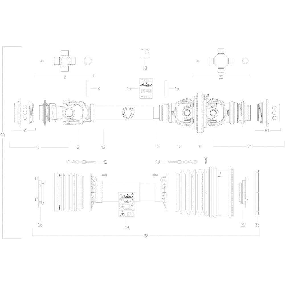 74 Transmissie 2 passend voor KUHN GF10802TGII