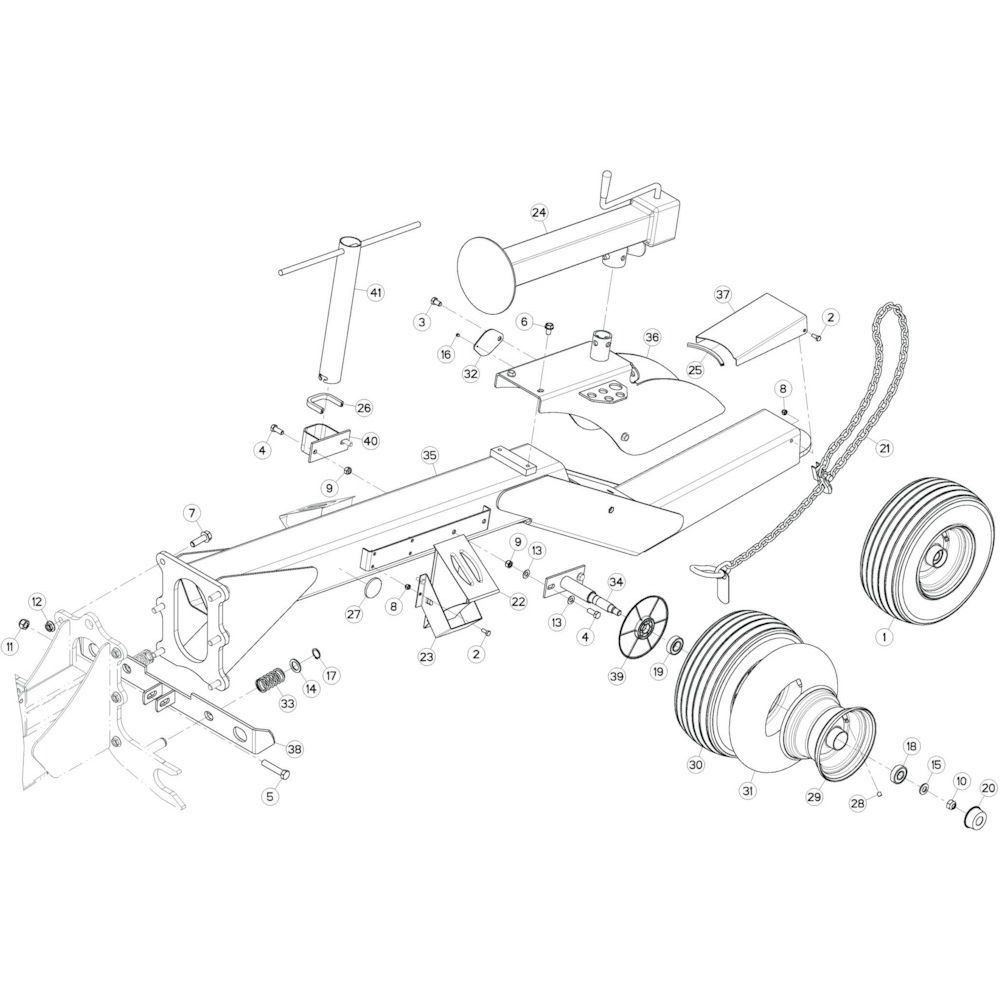 02 Verbindingsframe, voorzijde passend voor KUHN GF13002