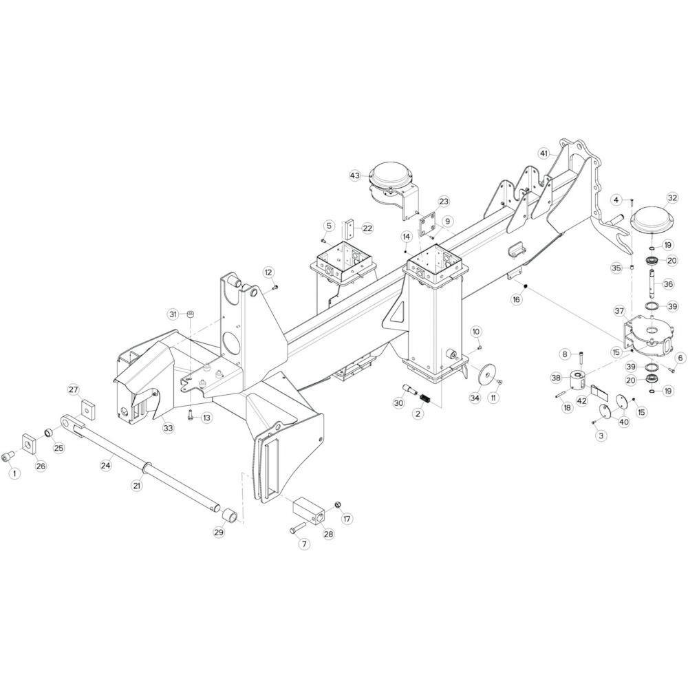 04 Verbindingsframe, achter passend voor KUHN GF13002